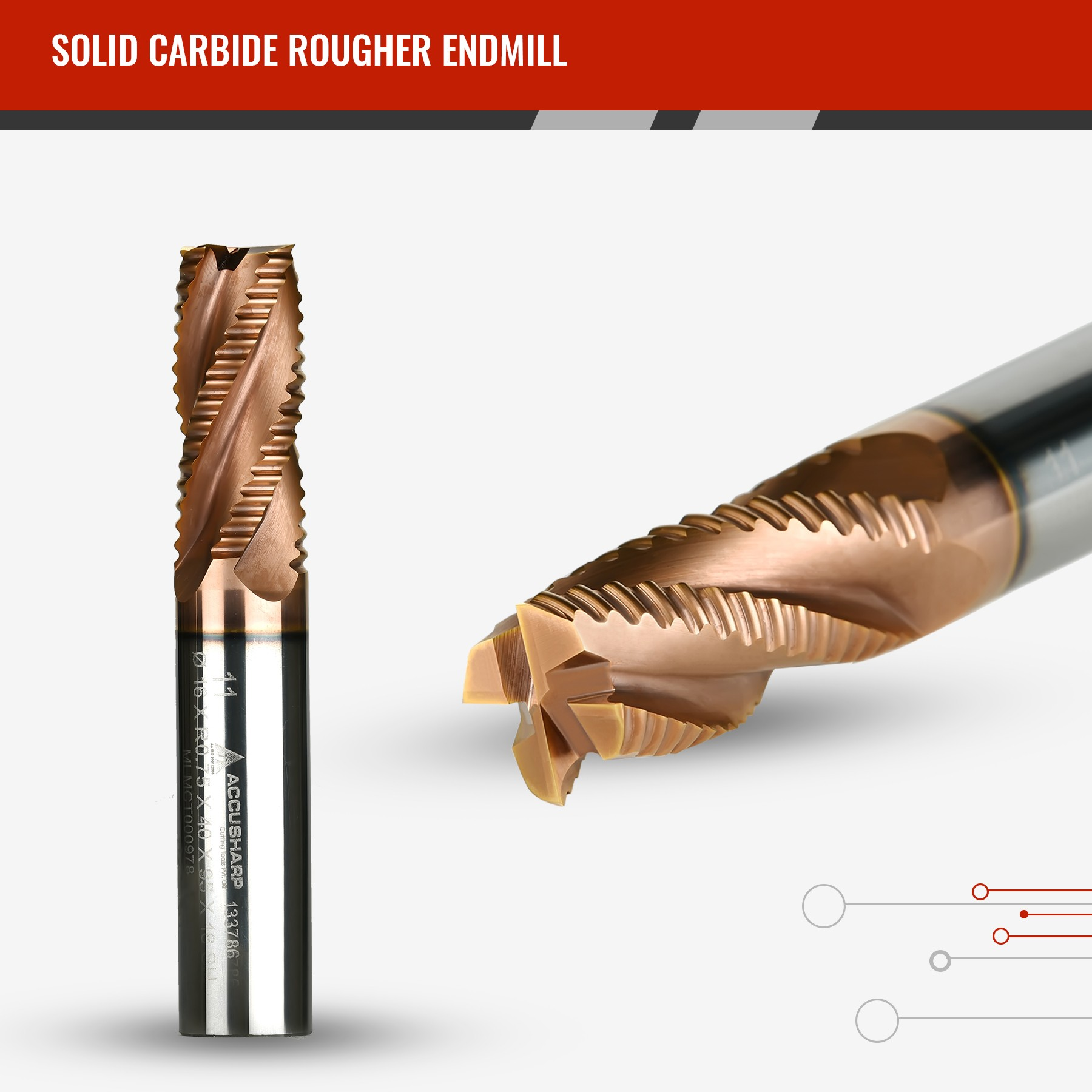 Solid Carbide Rougher Endmill