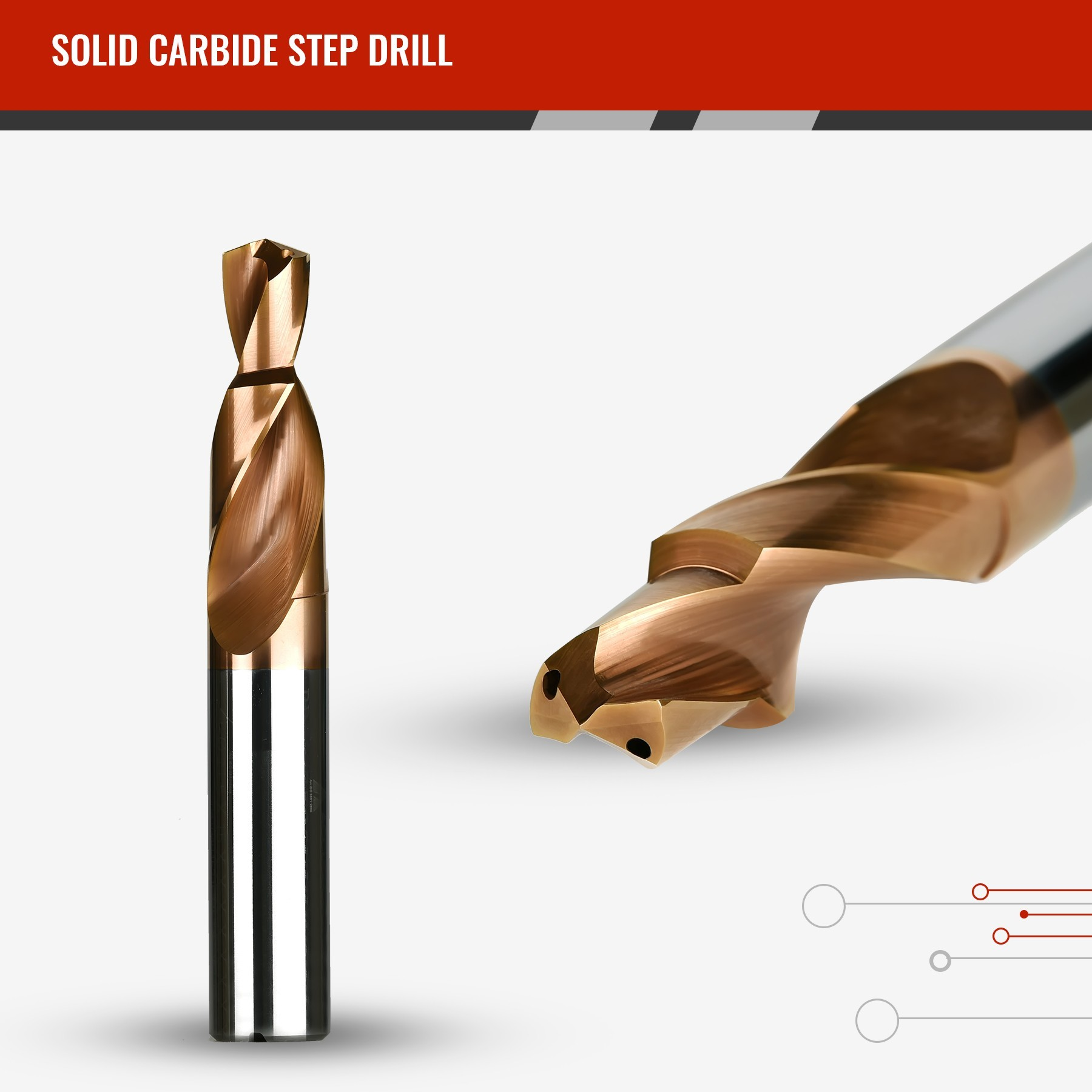 Solid Carbide Step Drill