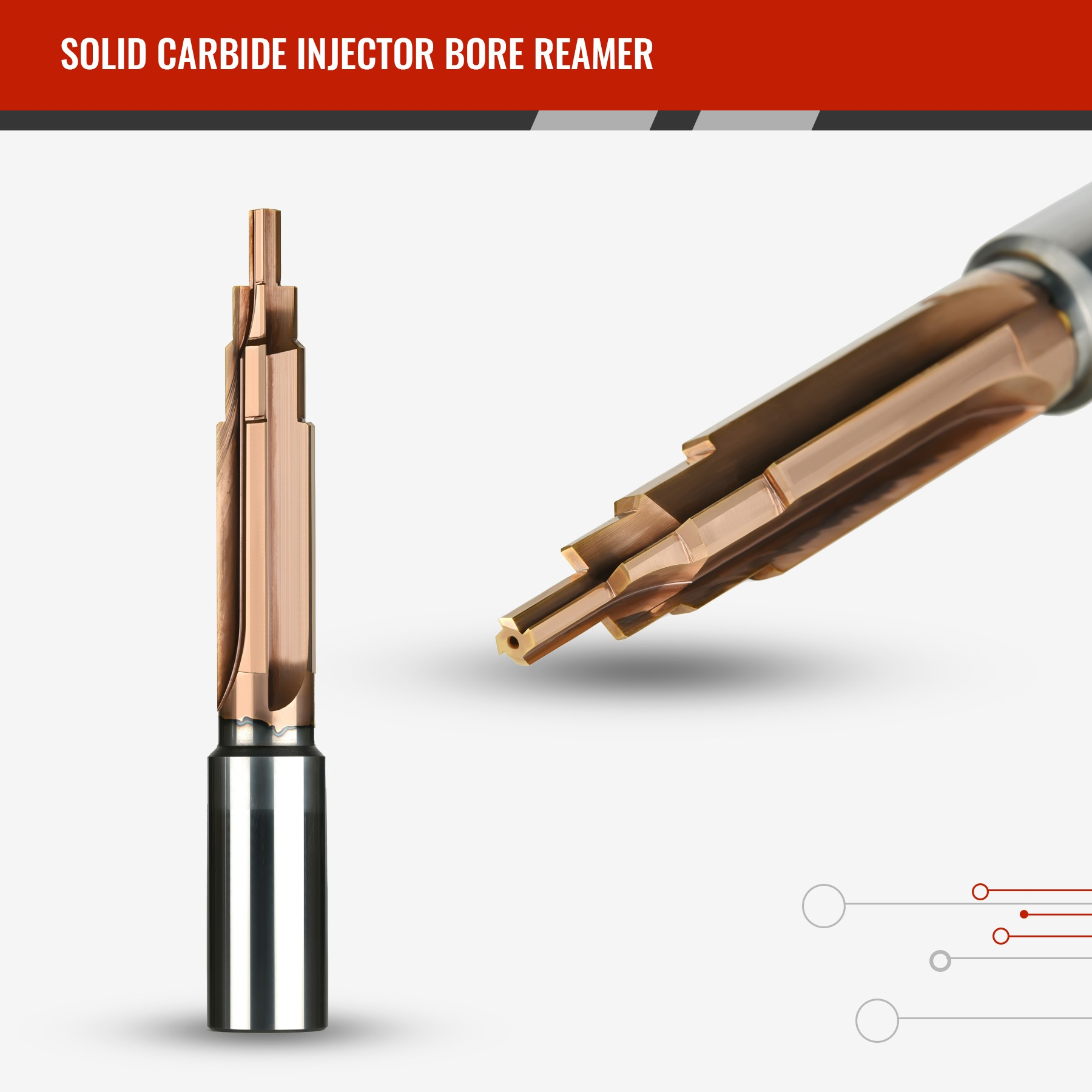 Solid Carbide Injector Bore Reamer
