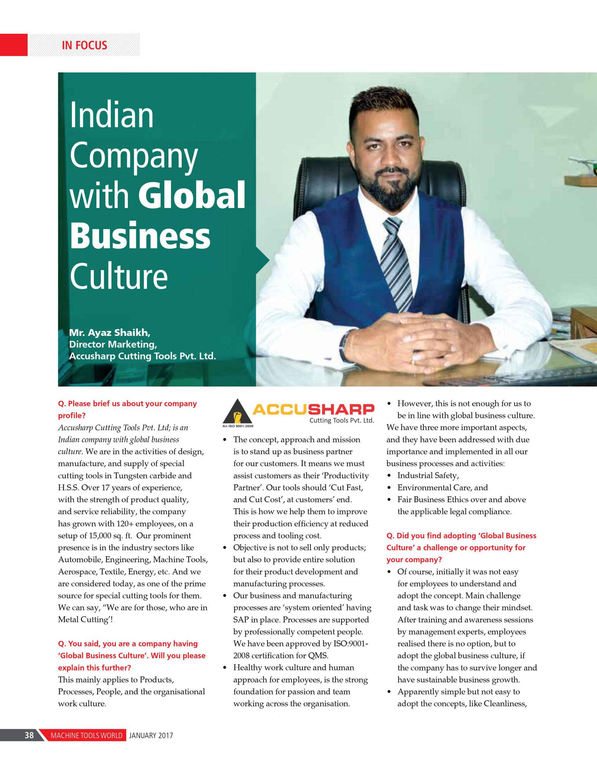 Indian Co with Global Business Culture